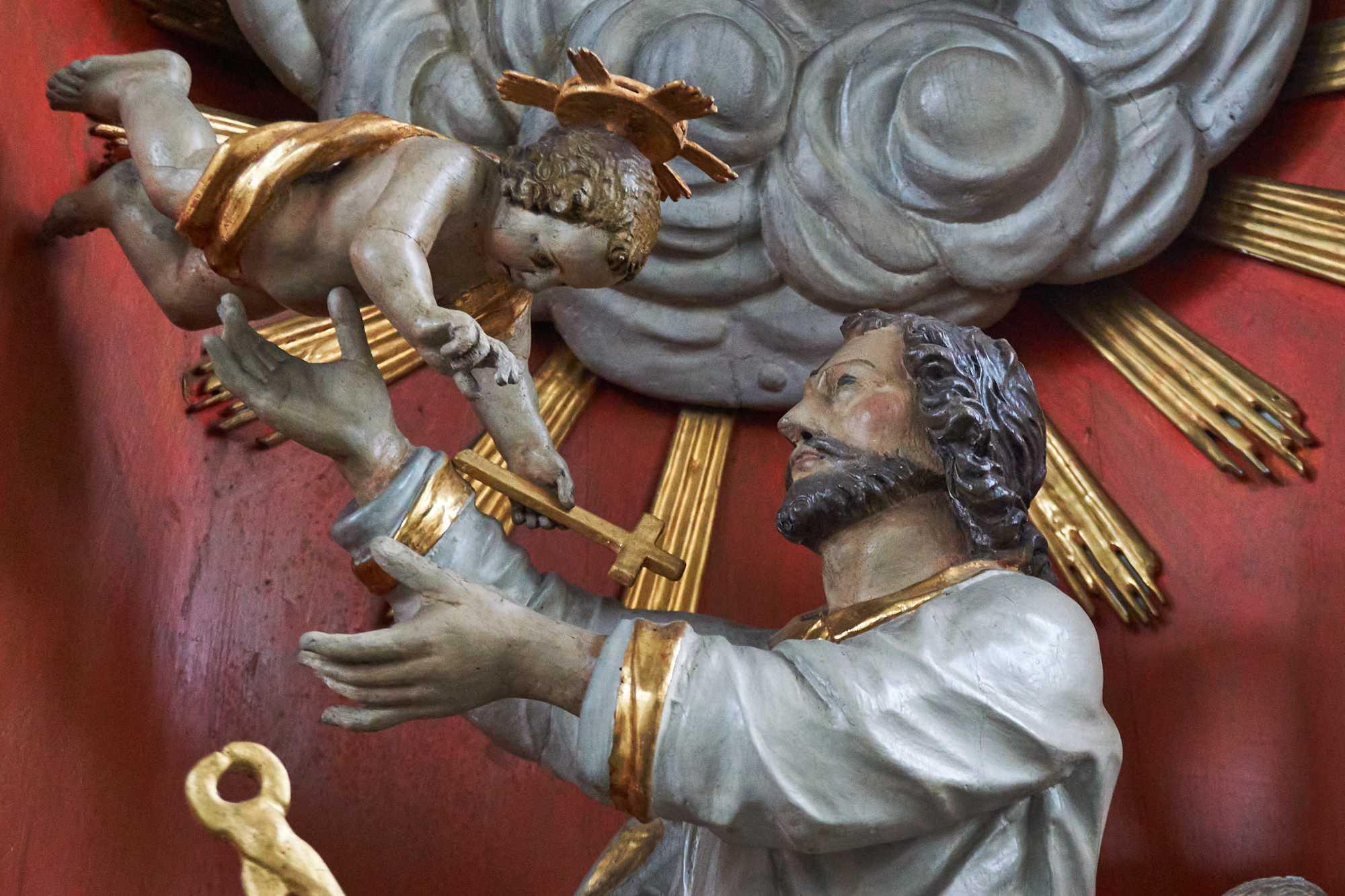 Der Josefsaltar in der Wallfahrtskirche Kleinenberg